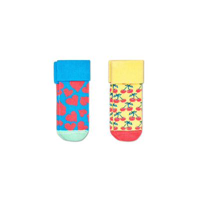 2-Pack Kids Heart Terry Socks