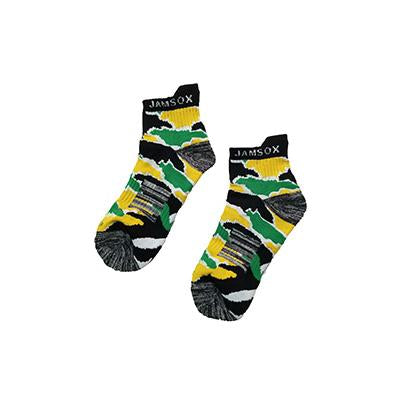 Jamaica Map Inspired Camo Athletic Socks - Quarter Length