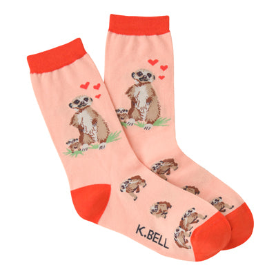 Women's Meerkats Crew Socks