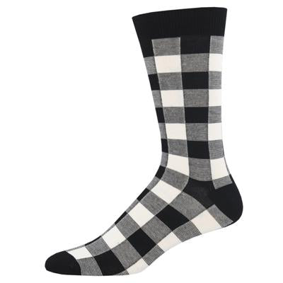Men's Bamboo Buffalo Plaid Socks