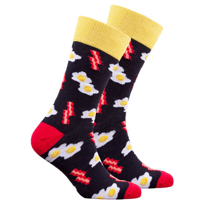 Men's Bacon and Eggs Crew Socks