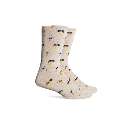 Men's Isla Cream Crew Socks