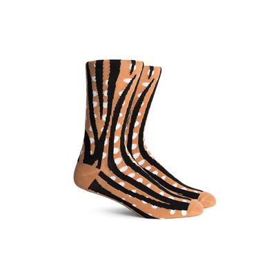 Men's Trek Brown Crew Socks