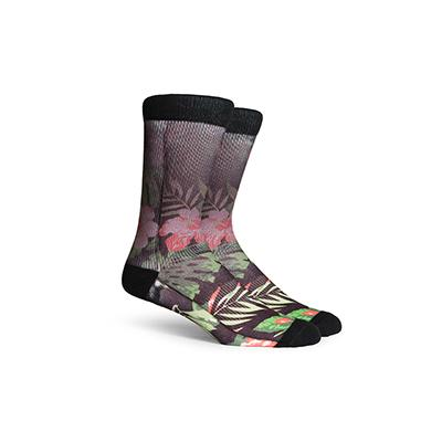 Men's Aloha Black Crew Socks