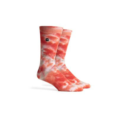 Men's Sherbet Red Multi Crew Socks