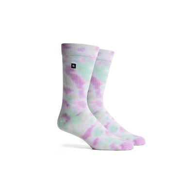 Men's Sherbet Purple Teal Crew Socks