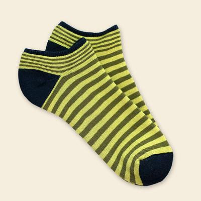 Organic Cotton Footie - Green Stripe