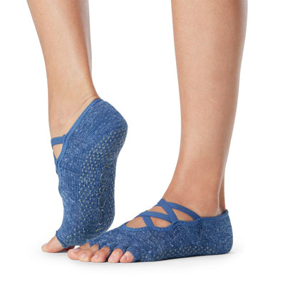 Half Toe Elle Grip Socks - Lunar