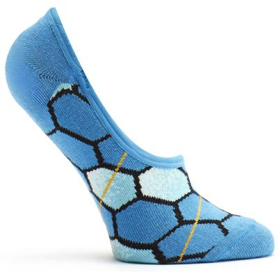 Solar Honeycomb No Show Sock Blue