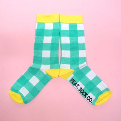 Men's Turquoise Check With Yellow