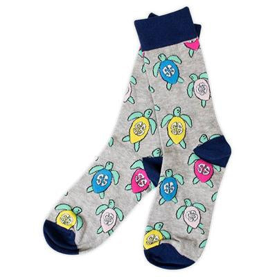 Turtle Preppy Sock by Simply Southern