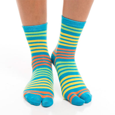Blue, Yellow Striped