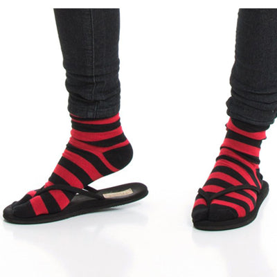 Black and Red Striped