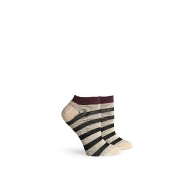 Women's Fielder Red Oatmeal Low Top Socks