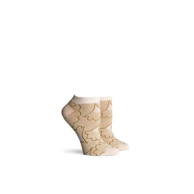 Women's Flora Cream Low Top Socks