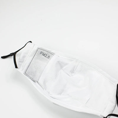 White Face Mask with PM2.5 Filter