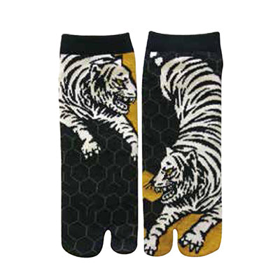 White Tiger Tootie Tabi Socks