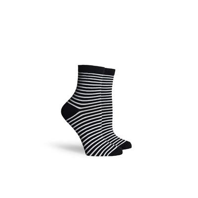 Women's Skimmer Black White Ankle Socks