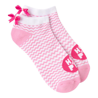 Women's Chevron Ribbon Quarter Socks