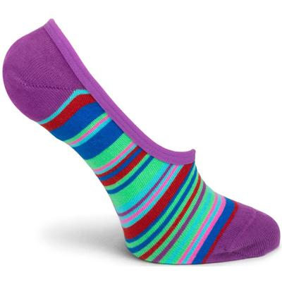 Transitional Stripes No Show Sock