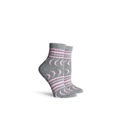 Women's Crescent Heather Grey Ankle Socks