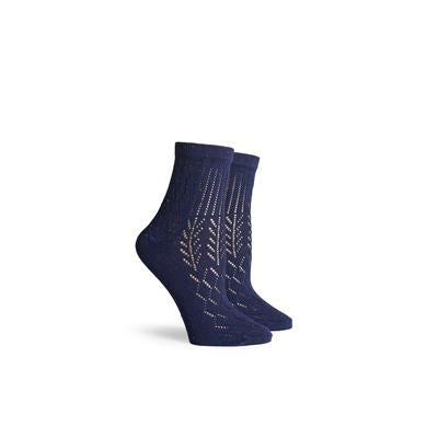 Women's Native Navy Ankle Socks