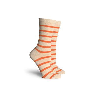 Women's Nora Crew Oatmeal Orange Socks Socks