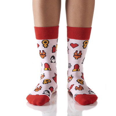 Frequently Used Emojis Women's Crew Socks