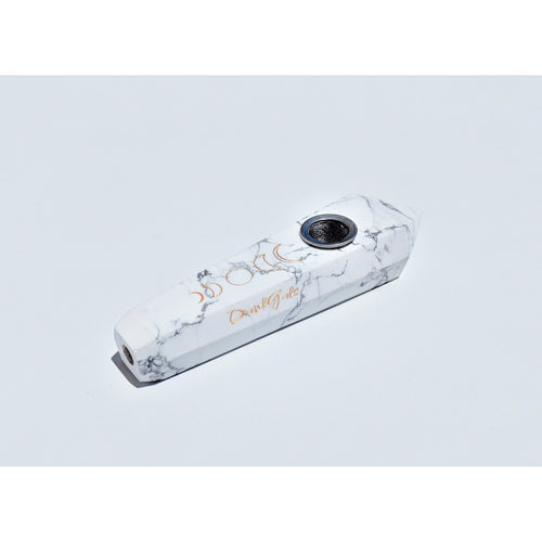 White Howlite Crystal Hand Pipe - DankGals