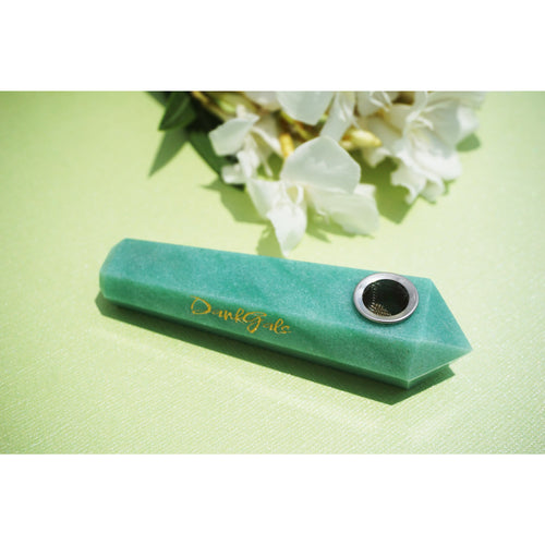 Green Aventurine Crystal Hand Pipe