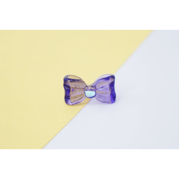 Bow Glass Pendant Purple