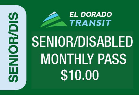 Senior/Disabled Local Monthly Pass