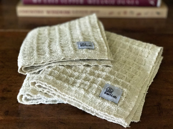 Handwoven Cotton/Linen Washcloths - Goat Milk Soap, Textile - Soap, BarnLab - BarnLab