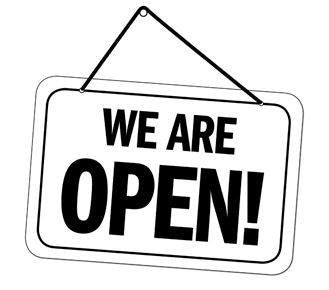 We are Open !!!