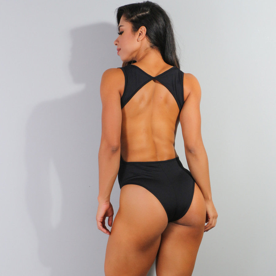 Anita Black Bodysuit