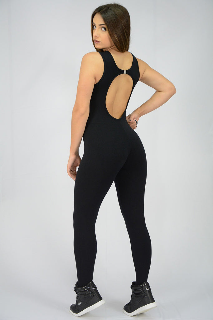 Black Jumpsuit Crossed