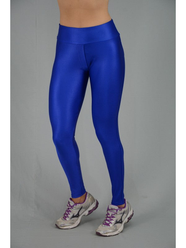 Blue Disco Leggings with pockets