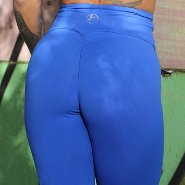 Blue Scrunch high waist Leggings
