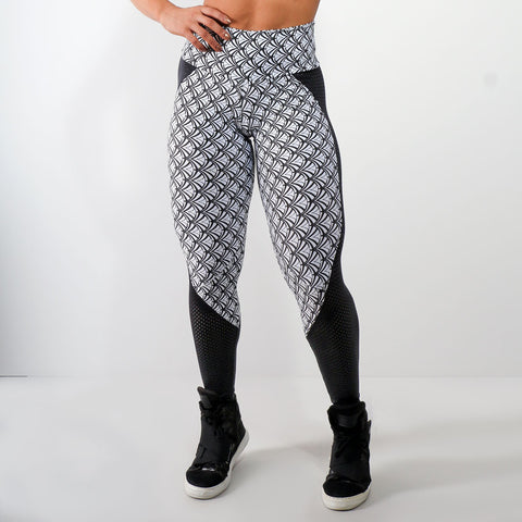 Camouflage Print Leggings High Waist