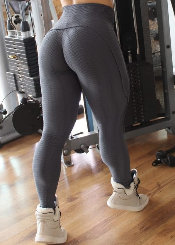 Dark Grey Booty Lifting Anti-Cellulite Leggings
