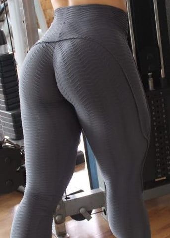 Red Booty Lifting Anti-Cellulite Leggings