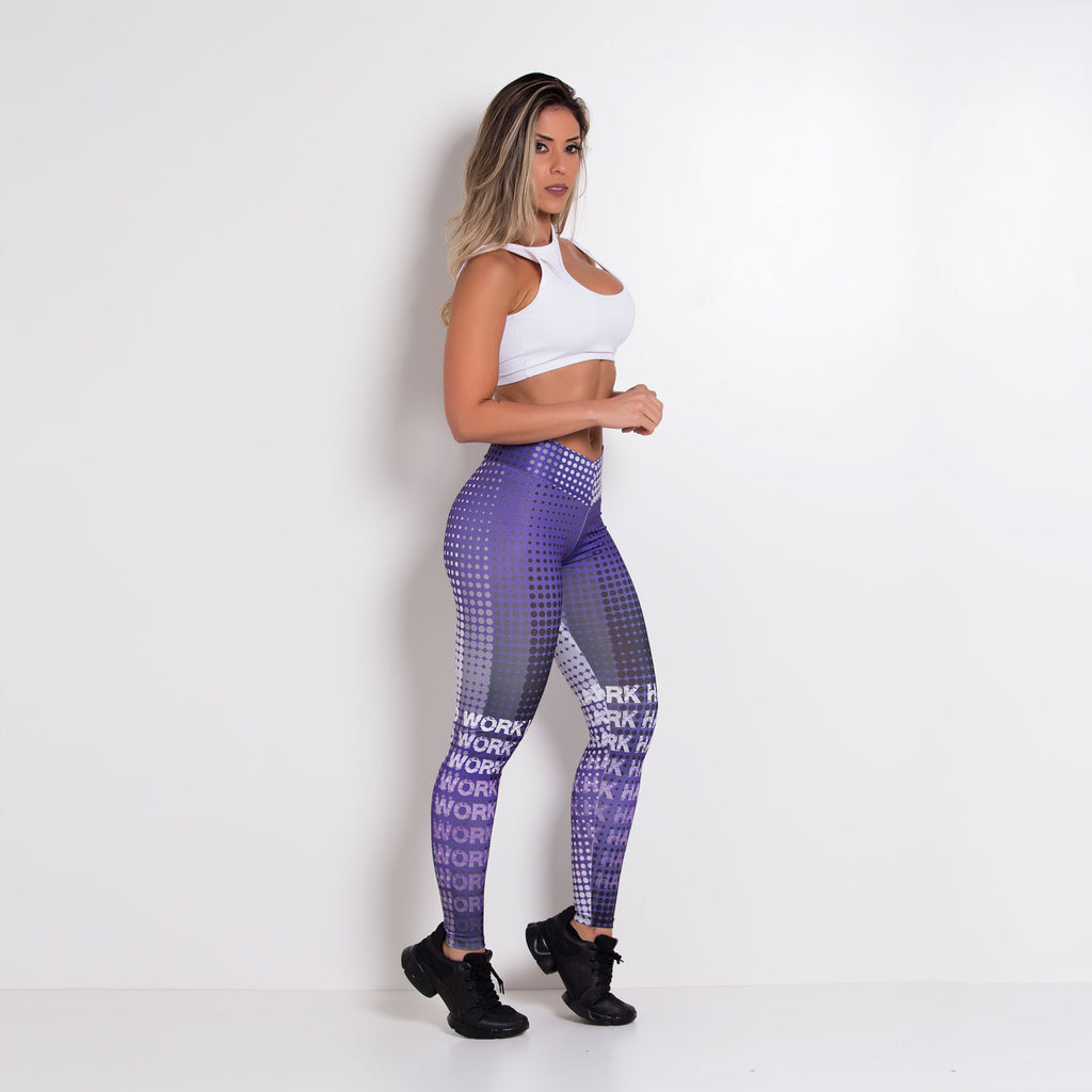 Digital print Work Hard Leggings