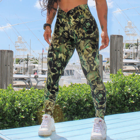 Carol Print Leggings High Waist