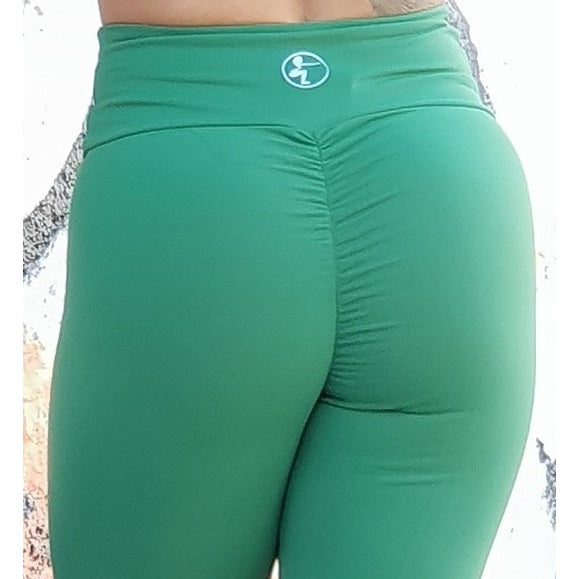Green Scrunch high waist Leggings