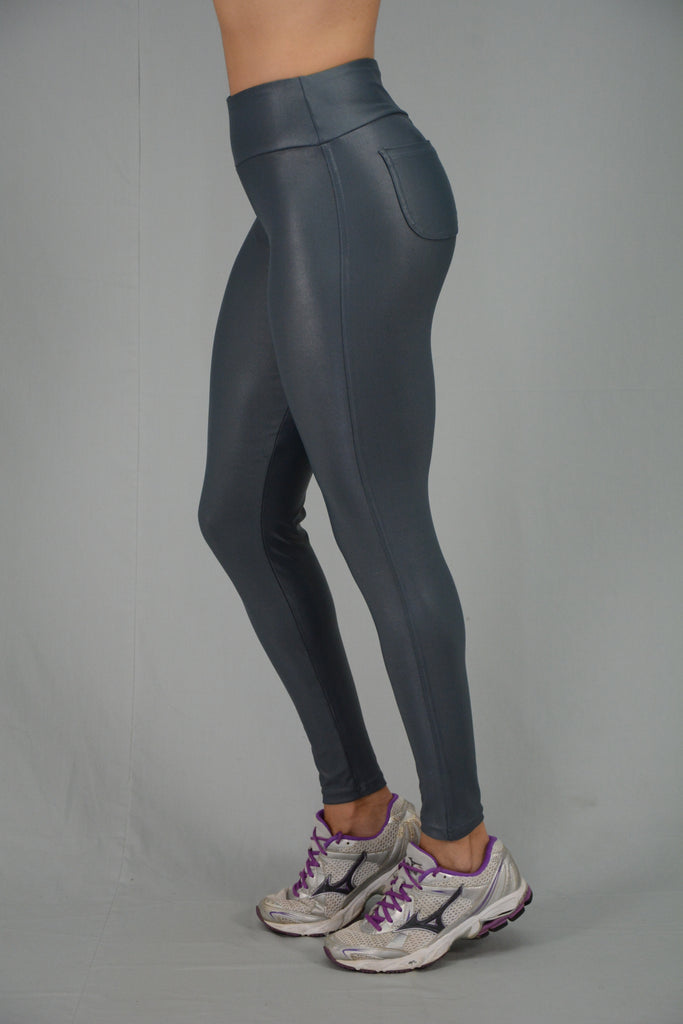 Grey Disco Leggings with pockets