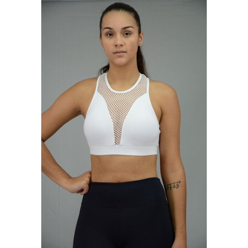 Luxe Cropped Top White