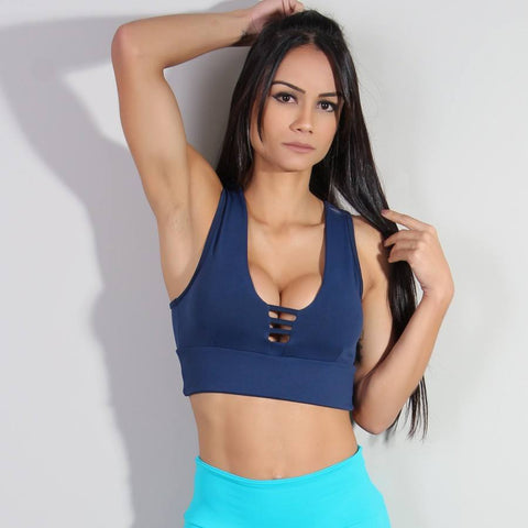 Luxe Cropped Top Blue