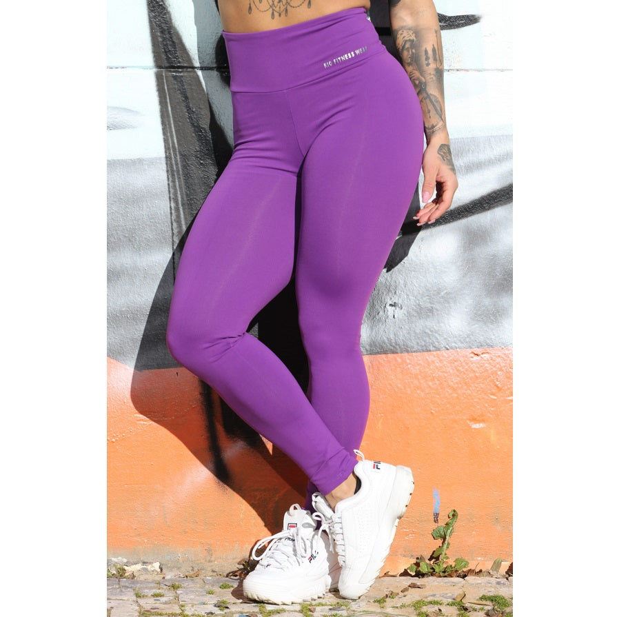Purple Scrunch high waist Leggings