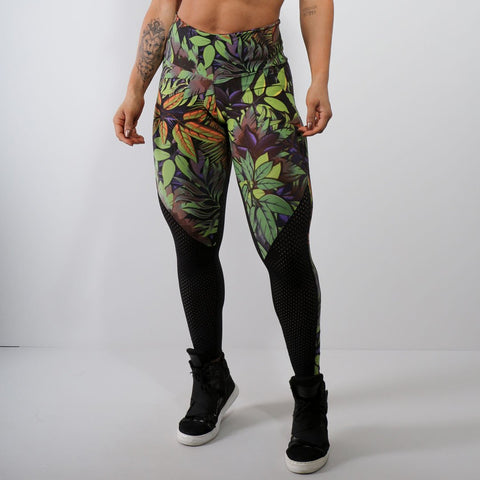 Paty Print Leggings High Waist