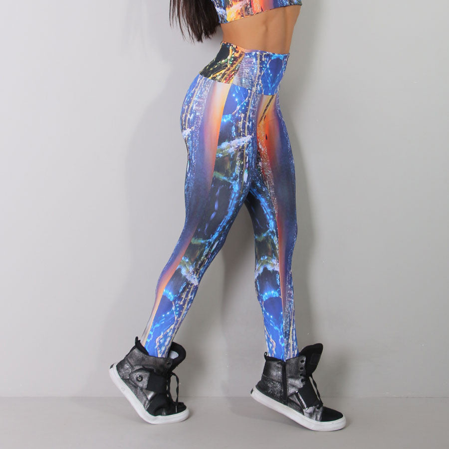 Watercolor Digital Leggings High Waist